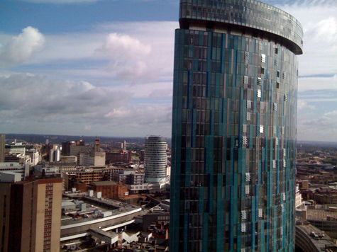 Beetham Tower from Cleveland Tower, Holloway Head, Birmingham