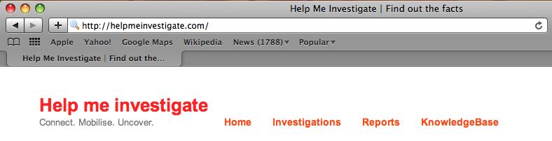Help Me Investigate