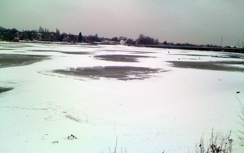 Edgbaston Reservoir in the Snow
