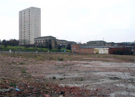 Site for proposed new Tesco store
